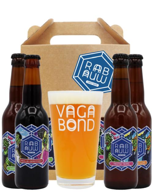 Rabauw bierpakket groot met glas
