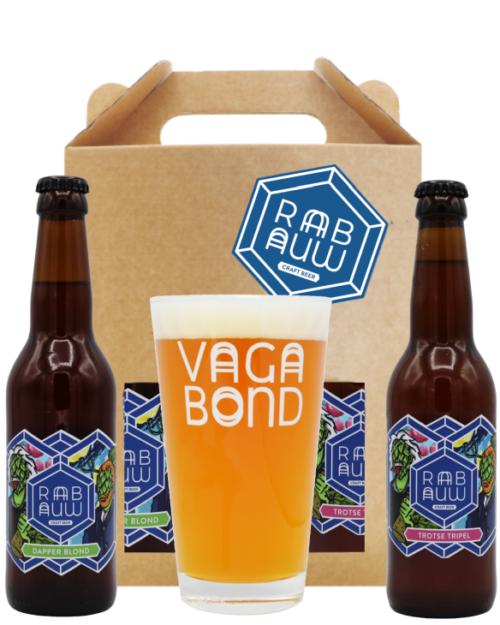 Rabauw bierpakket klein met glas